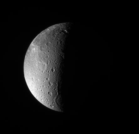 The moon Dione may have absorbed the particles that formed a temporary magnetosphere around Saturn.
