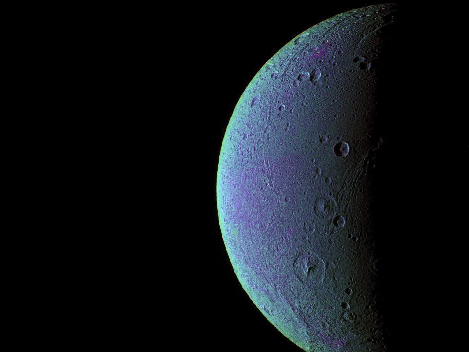 Cassini detects minute amounts of oxygen in Dione's thin exosphere.