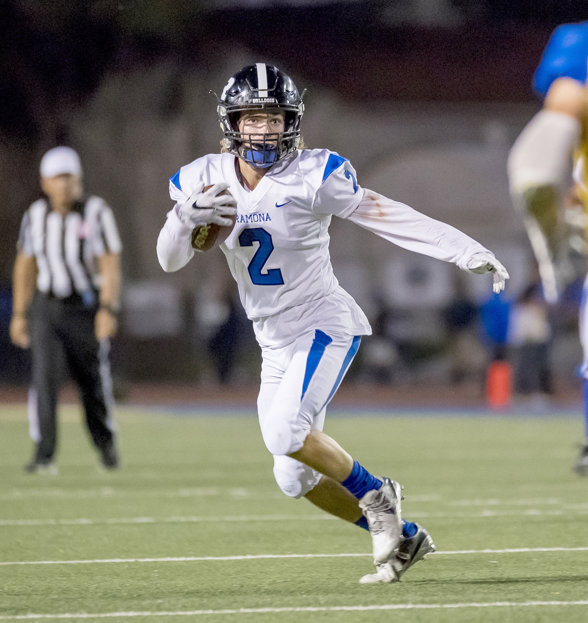 Tristan Stacy crosses the end zone three times in Ramona's away win over San Pasqual.