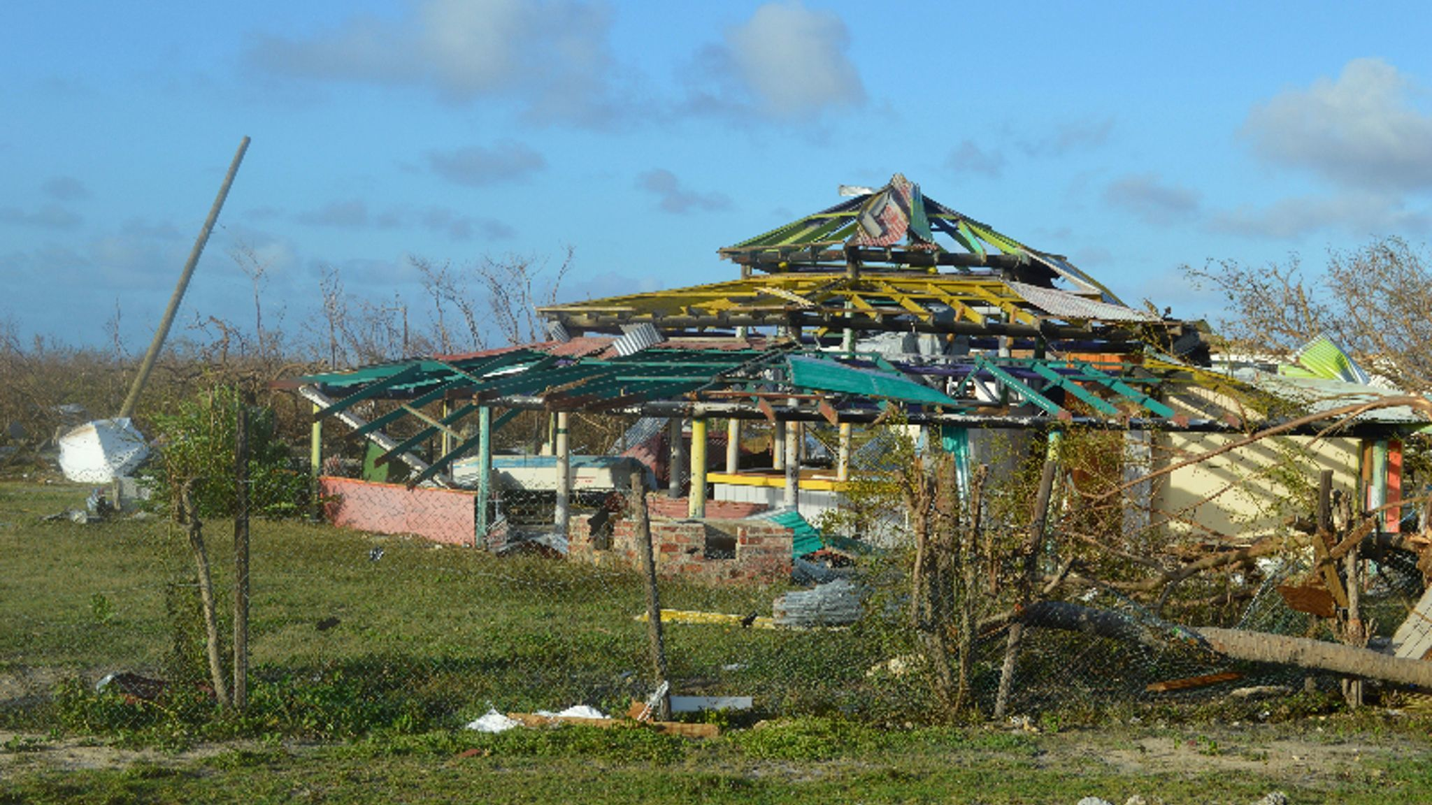 Damage in Barbuda on Sept. 7, after Hurricane Irma.