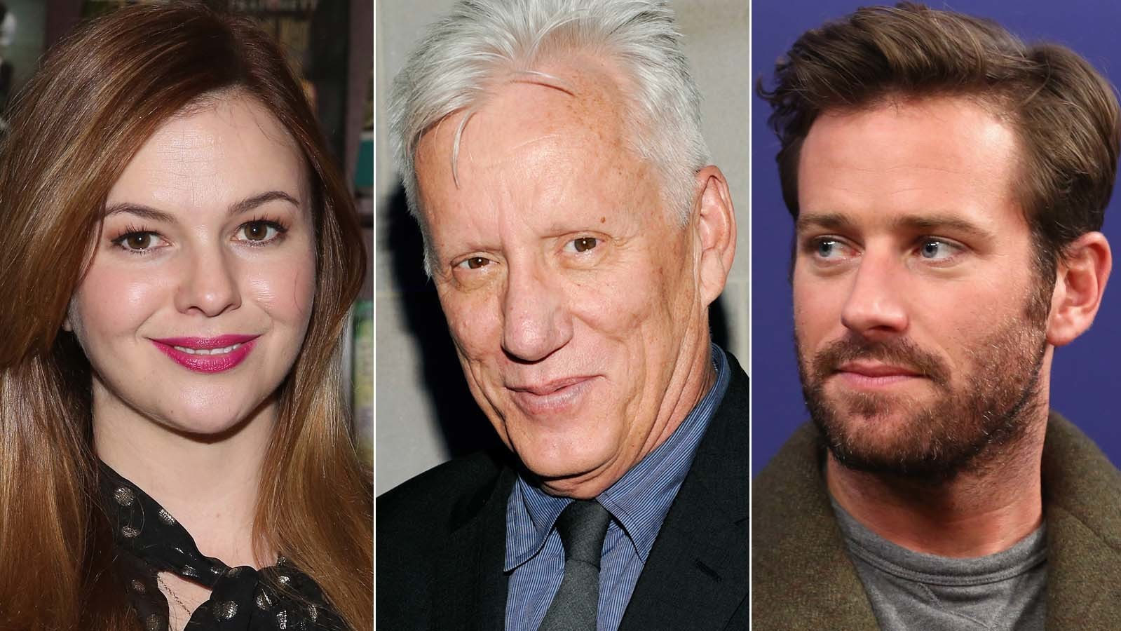 Amber Tamblyn, James Woods and Armie Hammer. (Robin Marchant / Getty Images; Evan Agostini / Associated Press; Rich Polk / Getty Images)