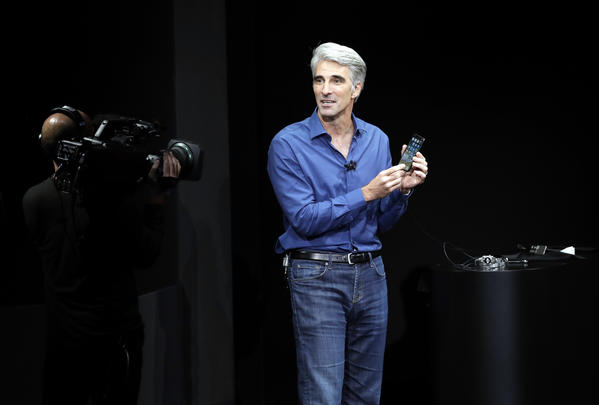 Craig Federighi, Apple's senior vice president of software engineering. (Associated Press)