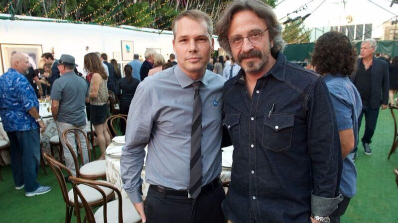 Shepard Fairey and Marc Maron