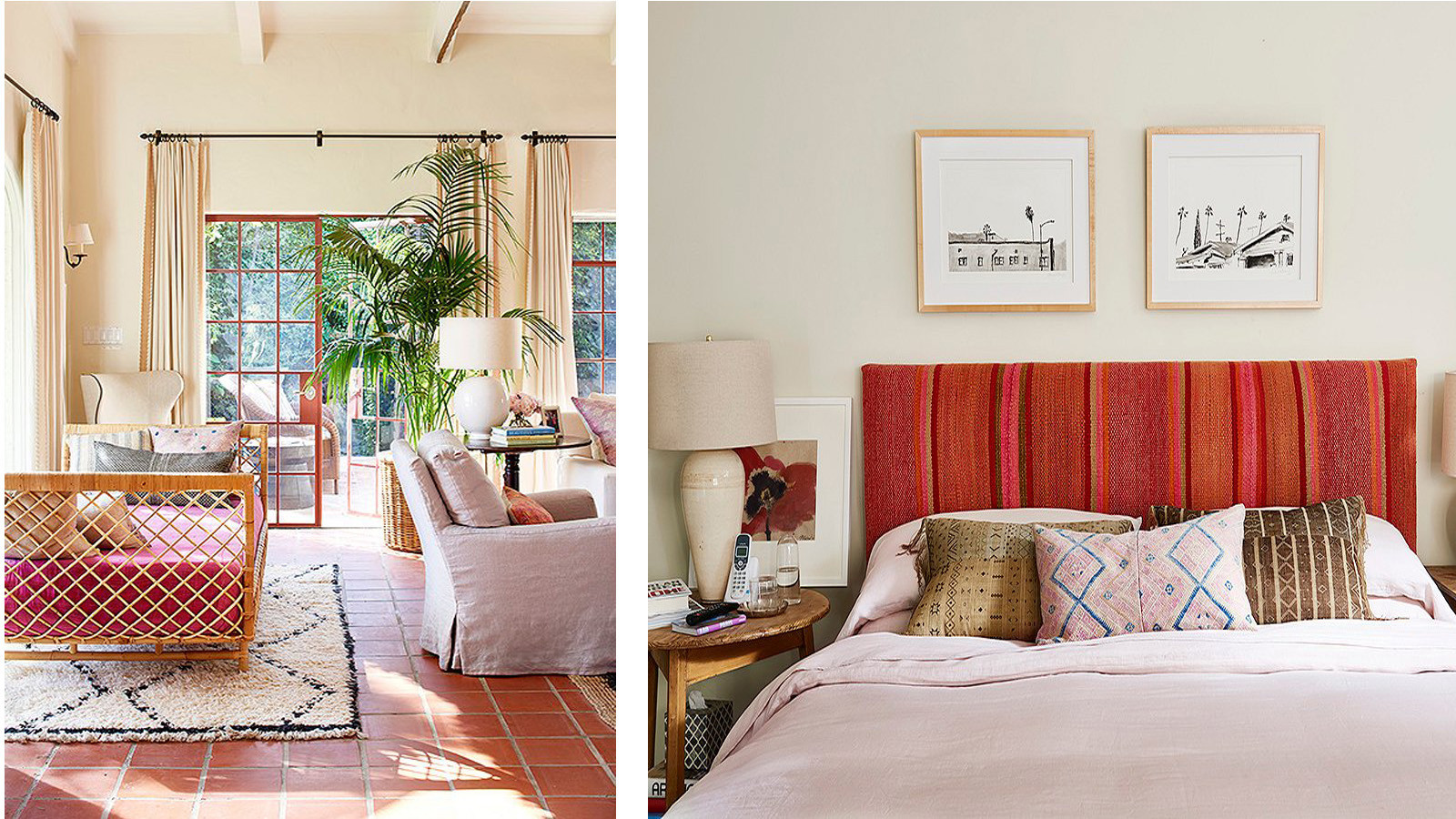 Shades of pink give the interiors a feminine feel.
