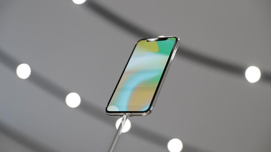 Apple announced two new lines of its flagship device, the iPhone 8 and the iPhone X, pictured here. (Marcio Jose Sanchez / Associated Press)