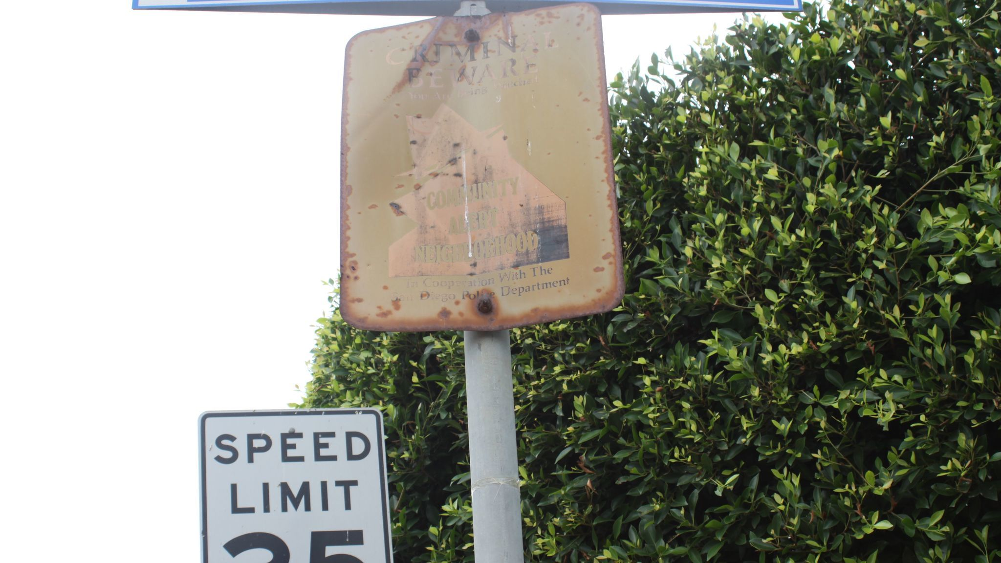 Old Neighborhood Watch signs suggest the area is not being monitored, and the La Jolla Community Crime Watch committee wants them replaced soon.