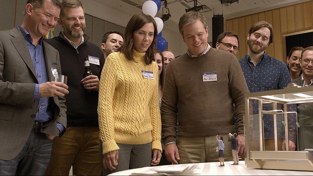 "Kristen Wiig and Matt Damon in the movie ""Downsizing."""