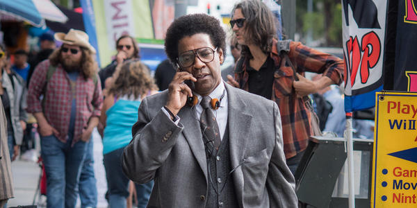 Denzel Washington in the title role in Dan Gilroy's 'Roman J. Israel, Esq.' (courtesy of Toronto International Film Festival)