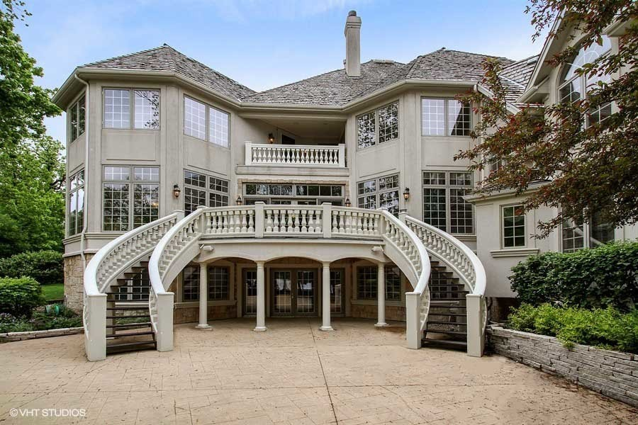 Mundelein estate with walkout basement 1 4m chicago for How to build a walkout basement