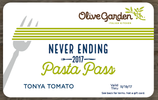 Get Olive Garden 39 S Never Ending Pasta Pass On Thursday For