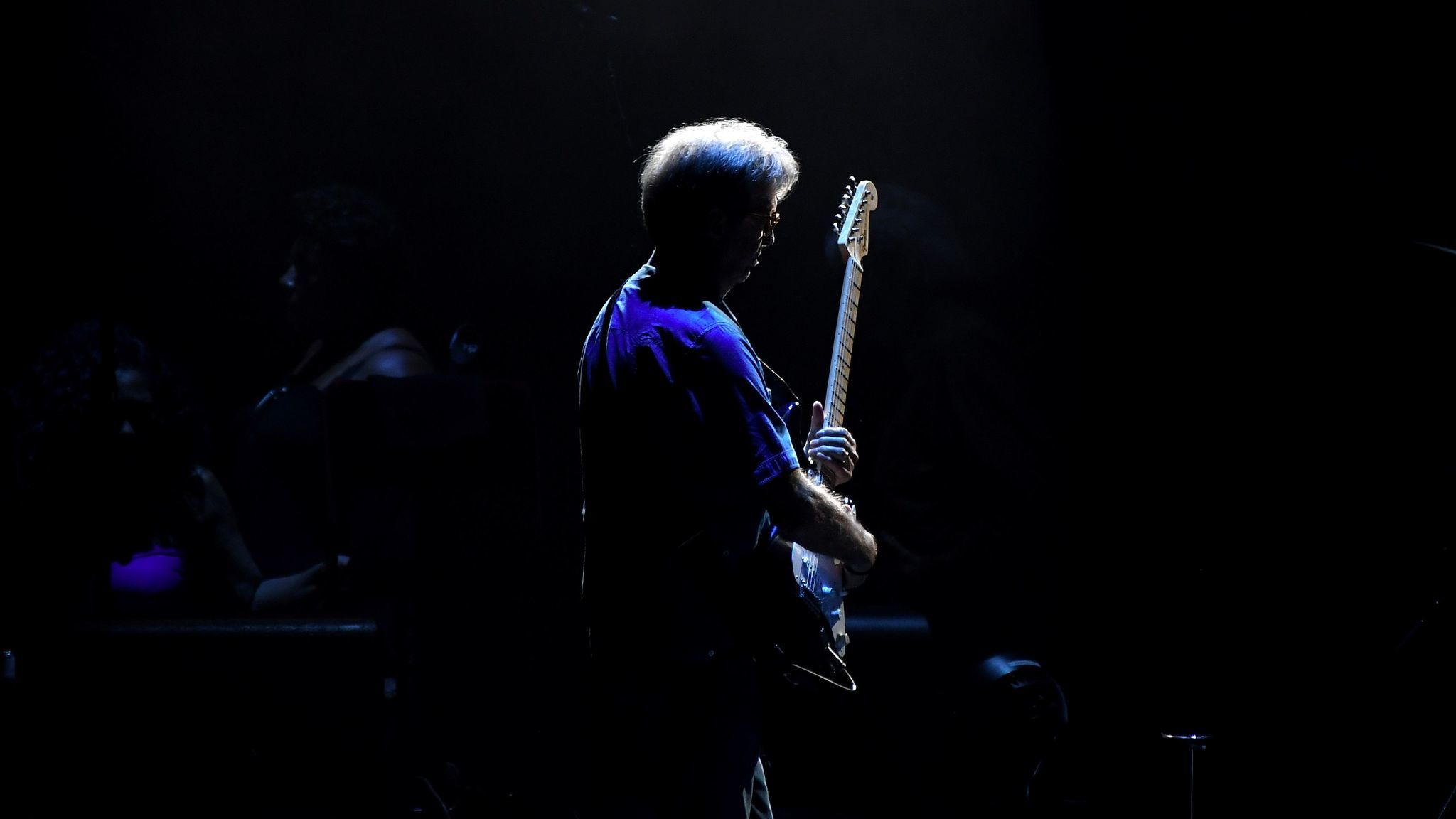 Eric Clapton, seen performing at the Forum in September 2017, opened up about his health in a new BBC interview. (Wally Skalij / Los Angeles Times)