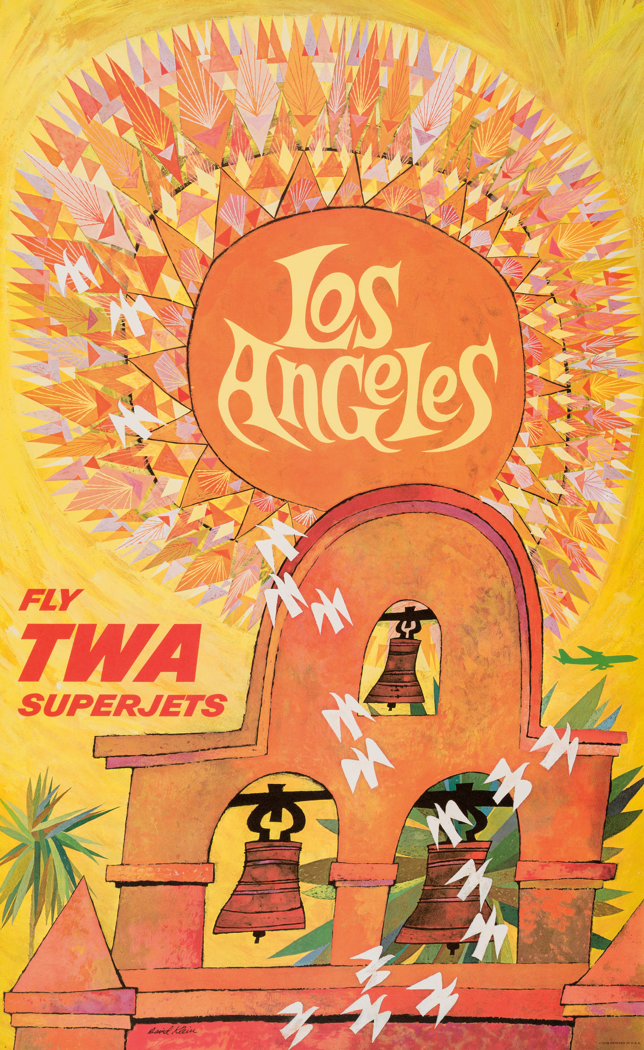 "A 1960s poster for TWA by David Klein, in ""Found in Translation"" at LACMA."