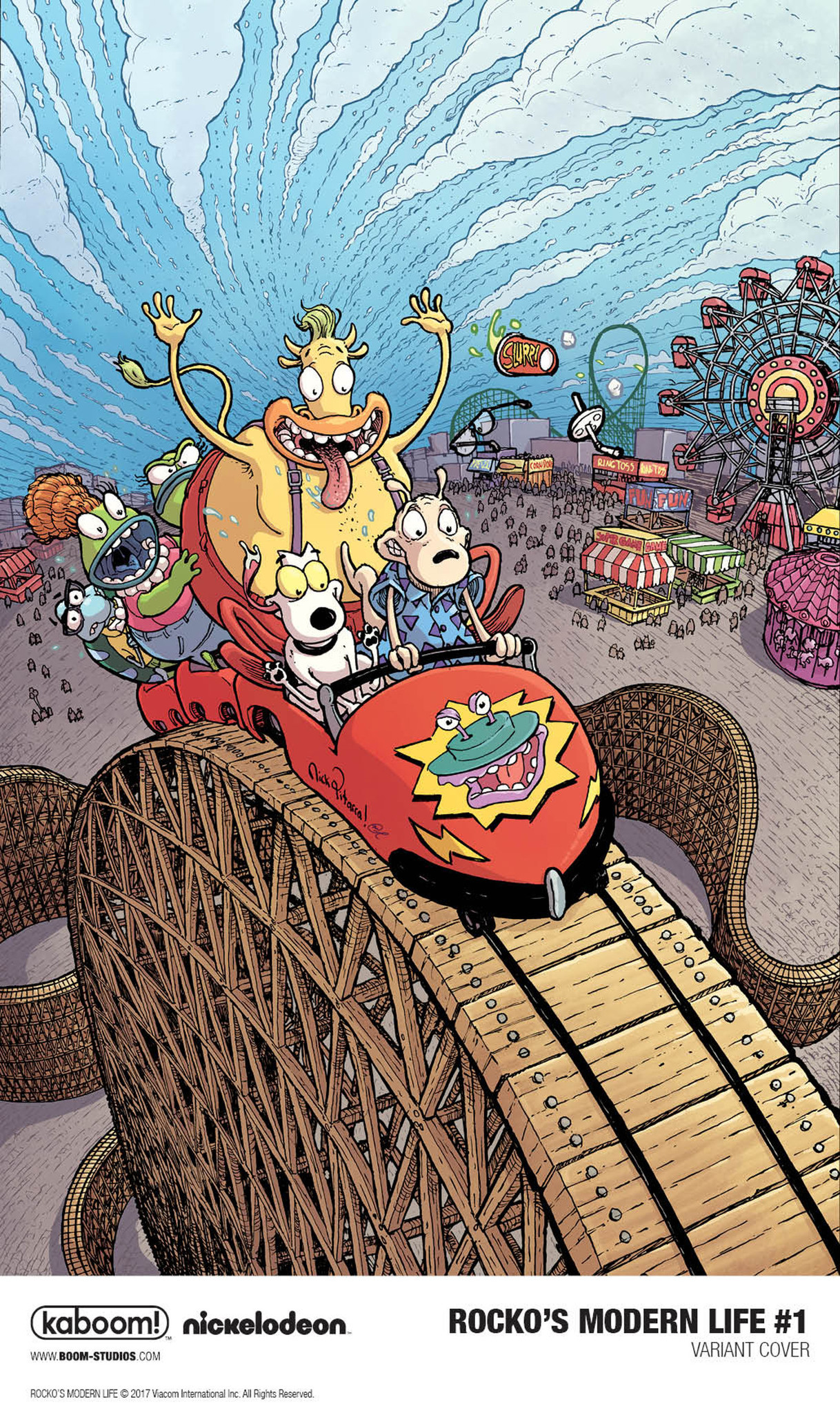 "The variant cover for ""Rocko's Modern Life"" No. 1 by Nick Pitarra."