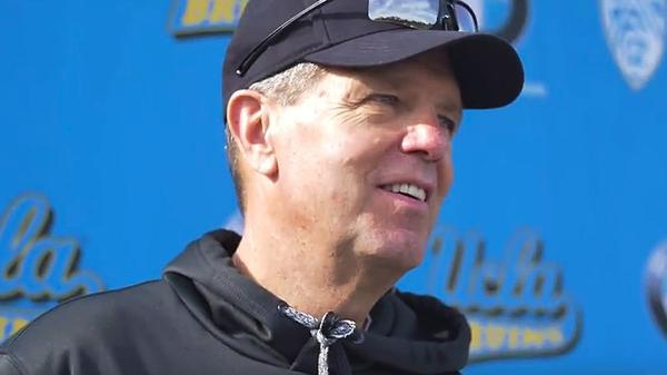 UCLA tight ends coach and former Memphis coach Rip Scherer returns to Liberty Bowl Memorial Stadium on Saturday. (UCLA Athletics / YouTube)