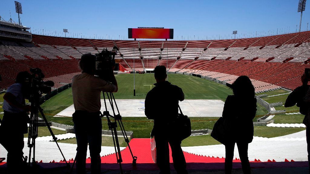 The L.A. Coliseum, used during the 1932 and 1984 Summer Games, will be among existing stadiums utilized for the Olympics in 2028. Reusing venues made economic sense for the L.A. bid.