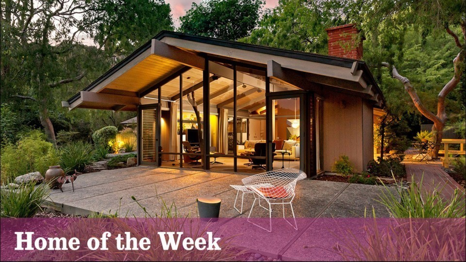 Pasadena post and beam boasts architectural pedigree and for Michael j arlen living room war