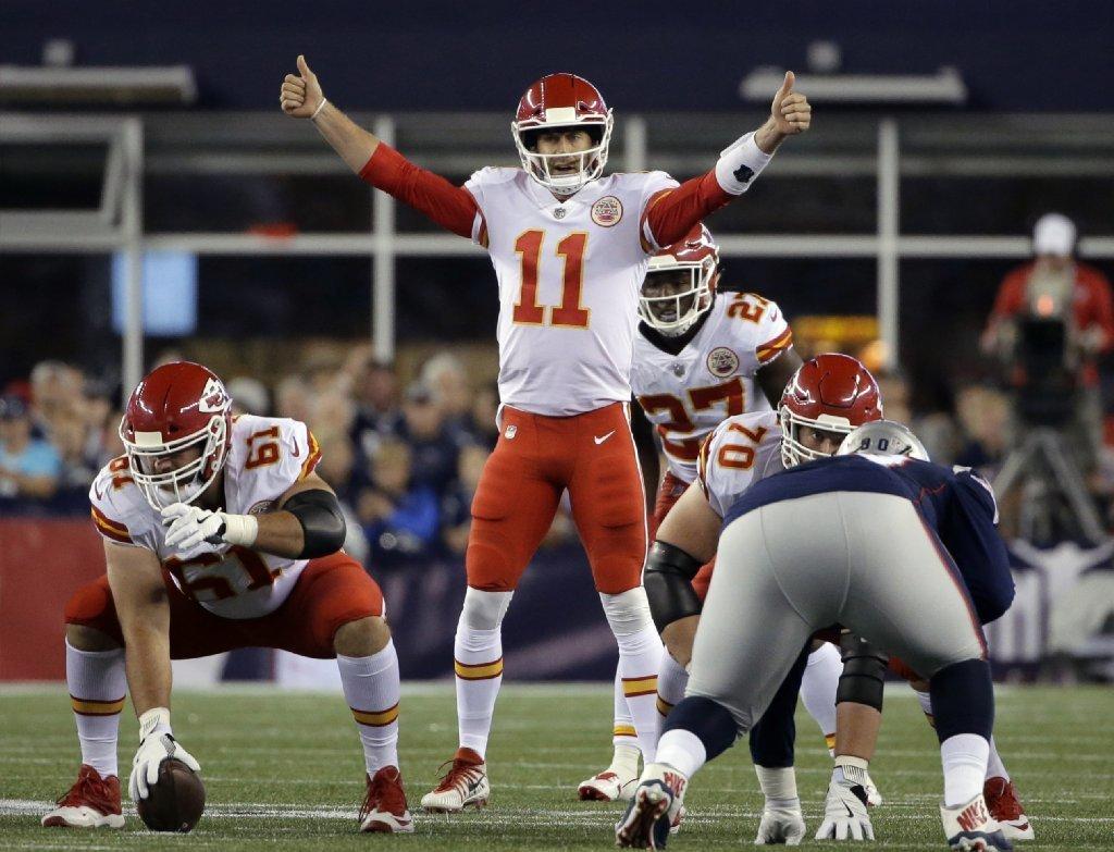 Chiefs quarterback Alex Smith outplayed Patriots quarterback Tom Brady in Week 1. Will that continue into Week 2? (Steven Senne / Associated Press)