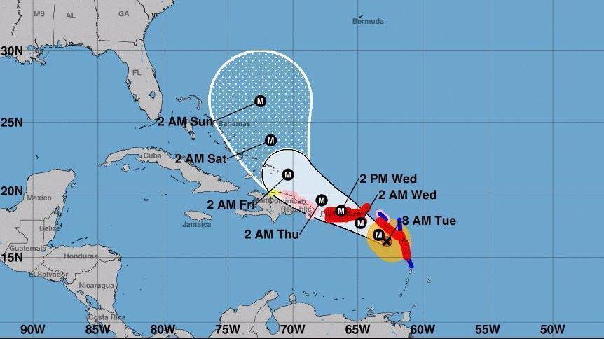 Image result for hurricane maria path