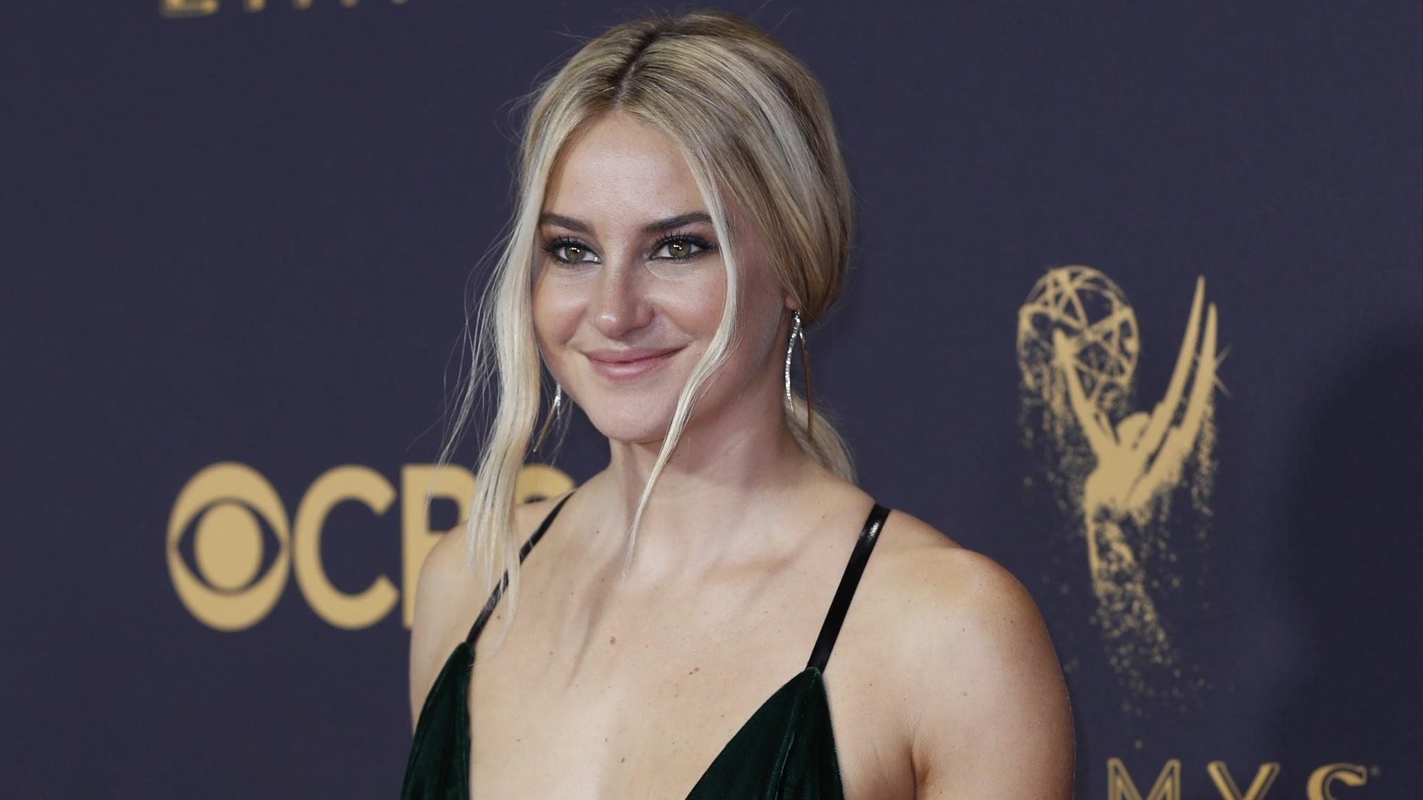 Shailene Woodley arriving at the 69th Emmy Awards at the Microsoft Theater in Los Angeles. (Allen J. Schaben / Los Angeles Times)