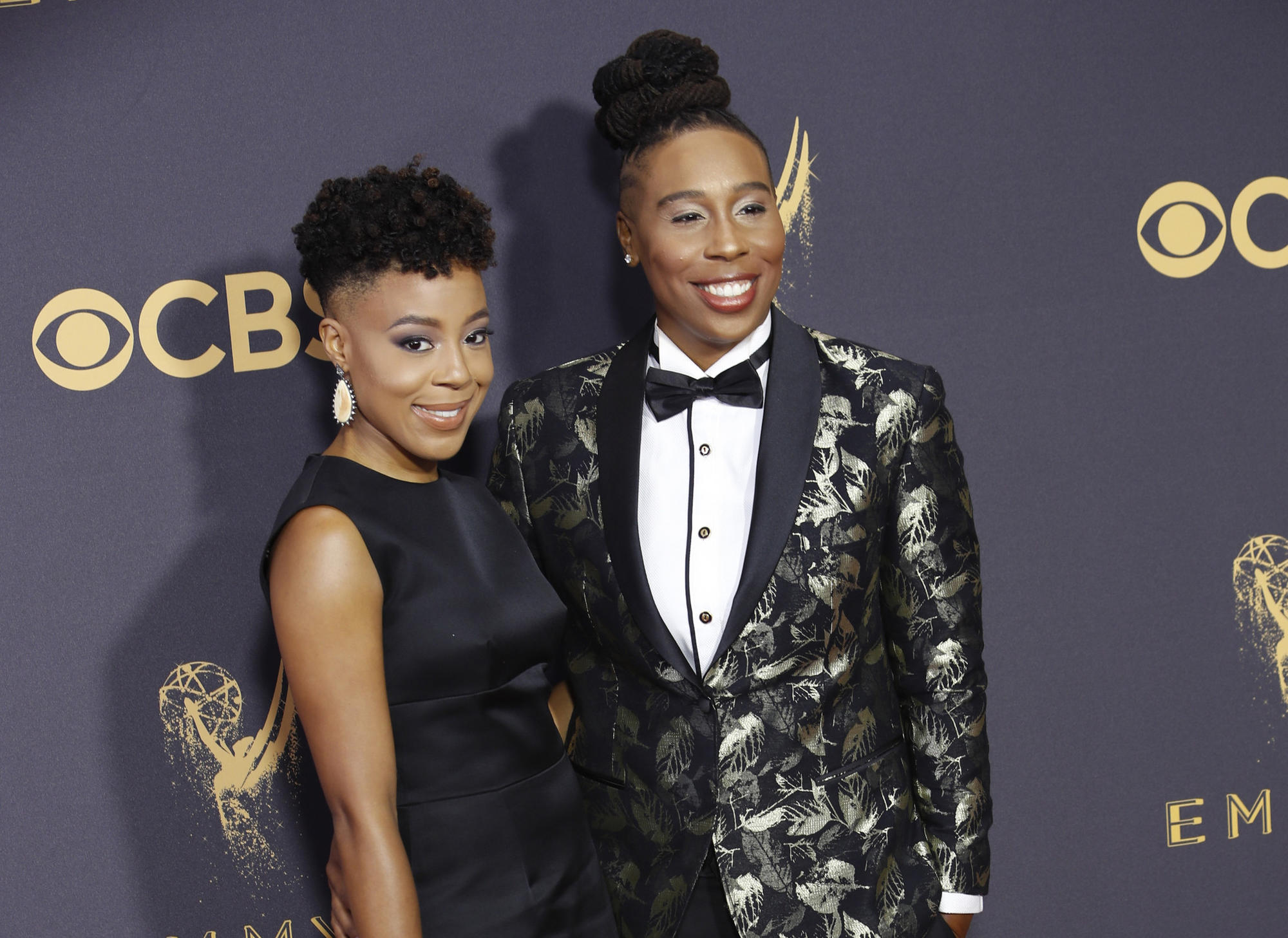 Lena Waithe, right, with girlfriend Alana Mayo at the 2017 Emmy Awards. (Kirk McKoy / Los Angeles Times)