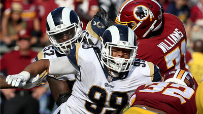 Aaron Donald is back on the field for the Rams but has things to tackle
