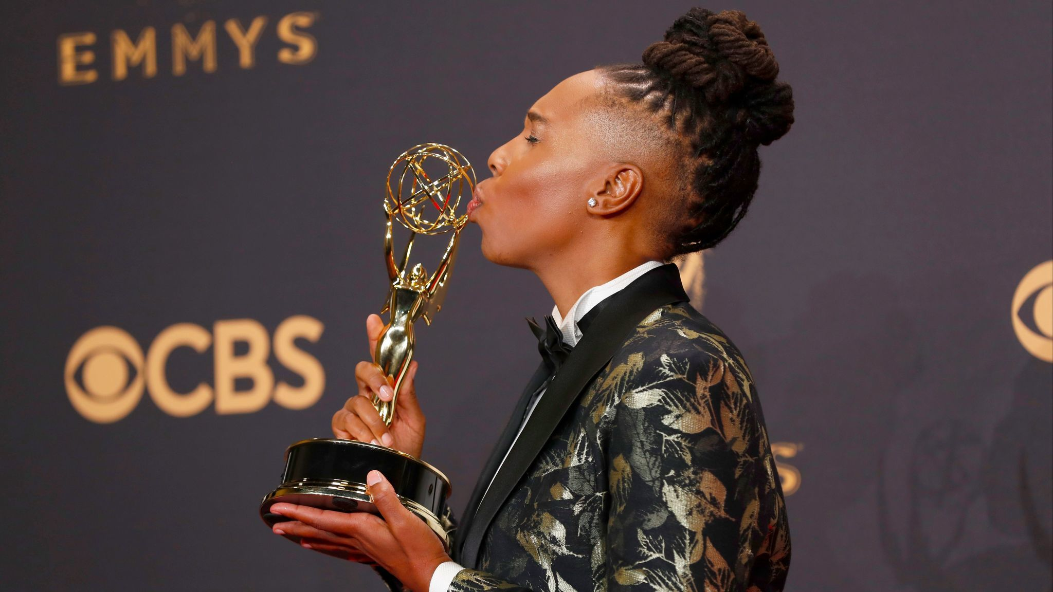 "Lena Waithe, the first black woman nominated for comedy writing, took the Emmy for co-writing the ""Master of None"" episode ""Thanksgiving."" (Allen J. Schaben / Los Angeles Times)"