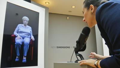 New York exhibit allows virtual 'interviews' with Holocaust survivors