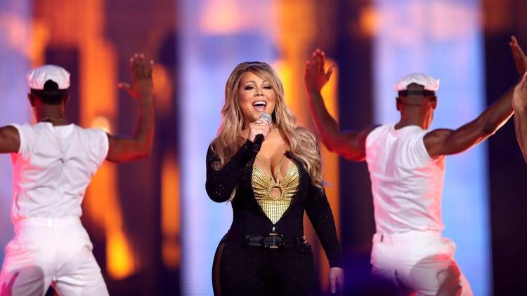 "Mariah Carey performs onstage during VH1's ""Hip Hop Honors: The 90s Game Changers."""
