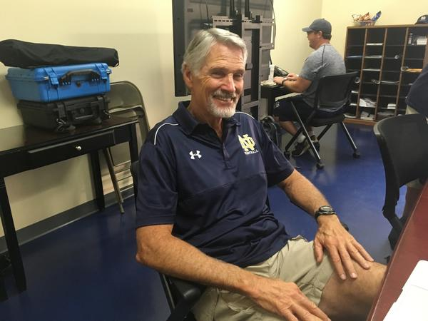Sherman Oaks Notre Dame football Coach Kevin Rooney is in his 38th season and has 299 career victories. (Eric Sondheimer)