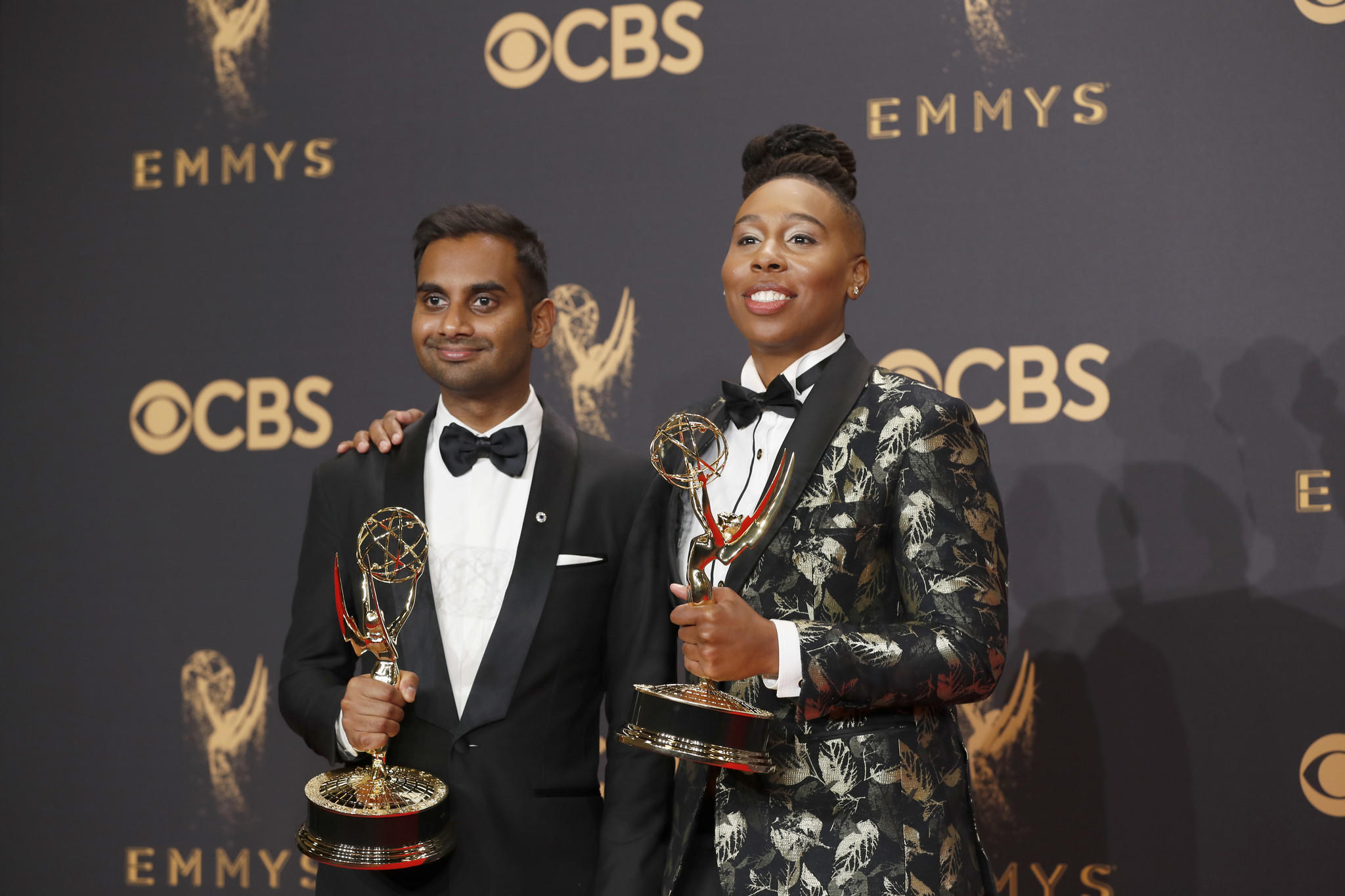 Image Aziz Ansari and Lena Waithe