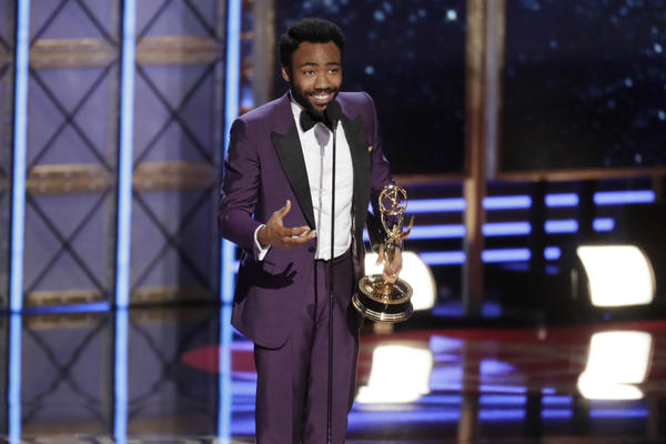Donald Glover wins the Emmy for lead actor in a comedy series on Sunday night. (Robert Gauthier / Los Angeles Times)