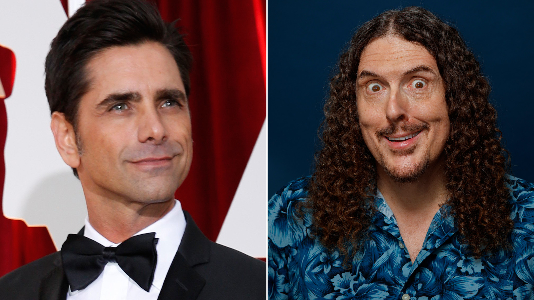 """John Stamos, left, will star as Willy Wonka, and """"Weird Al"""" Yankovic will play the Oompa Loompas. (Liz O. Baylen / Los Angeles Times, left; Jay L. Clendenin / Los Angeles Times, right)"""