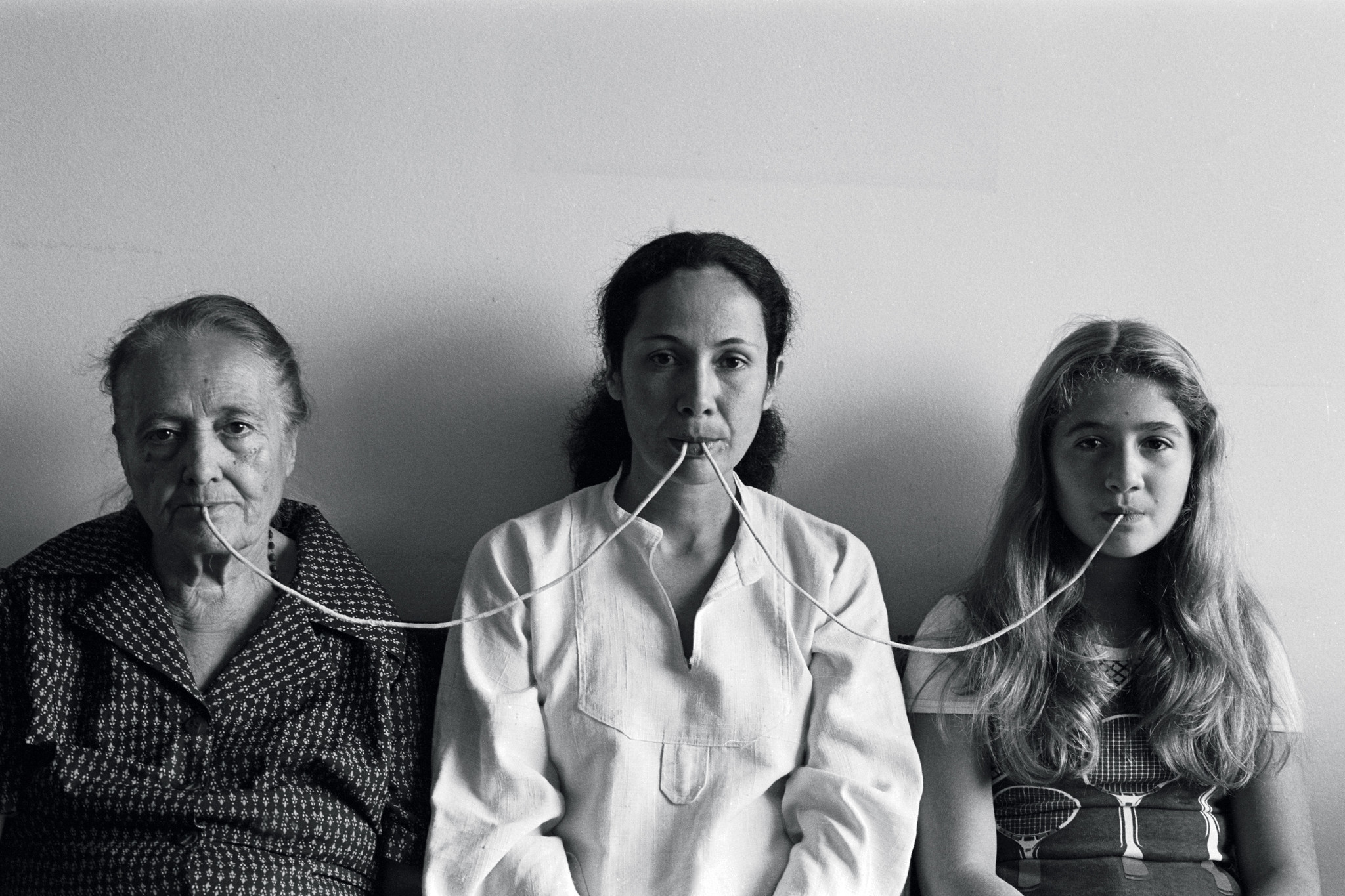"""""""Por um Fio (By a Thread),"""" 1976, shows Maiolino, center, with her mother and daughter."""