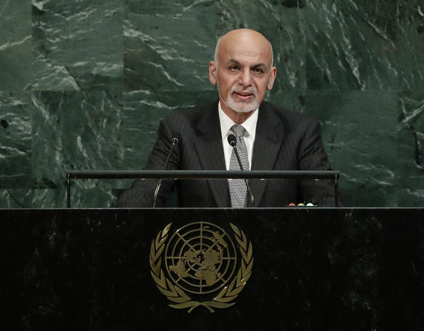 Afghan President Ashraf Ghani emphasizes terrorist threats, backs new U.S. strategy