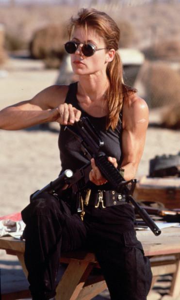 """Linda Hamilton in """"Terminator 2."""" (Skydance)"""
