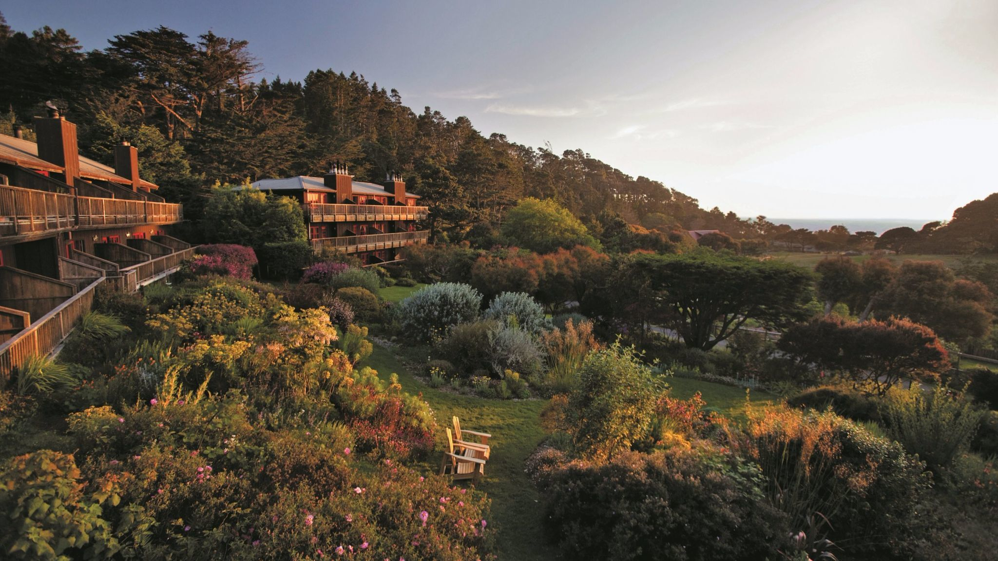 Ravens Restaurant is located in the Stanford Inn in Mendocino.