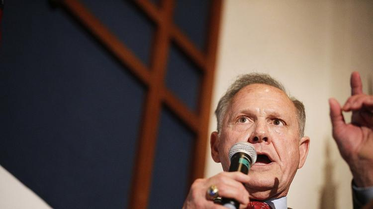 Senate candidate Roy Moore in Montgomery, Ala. (Brynn Anderson/Associated Press) None
