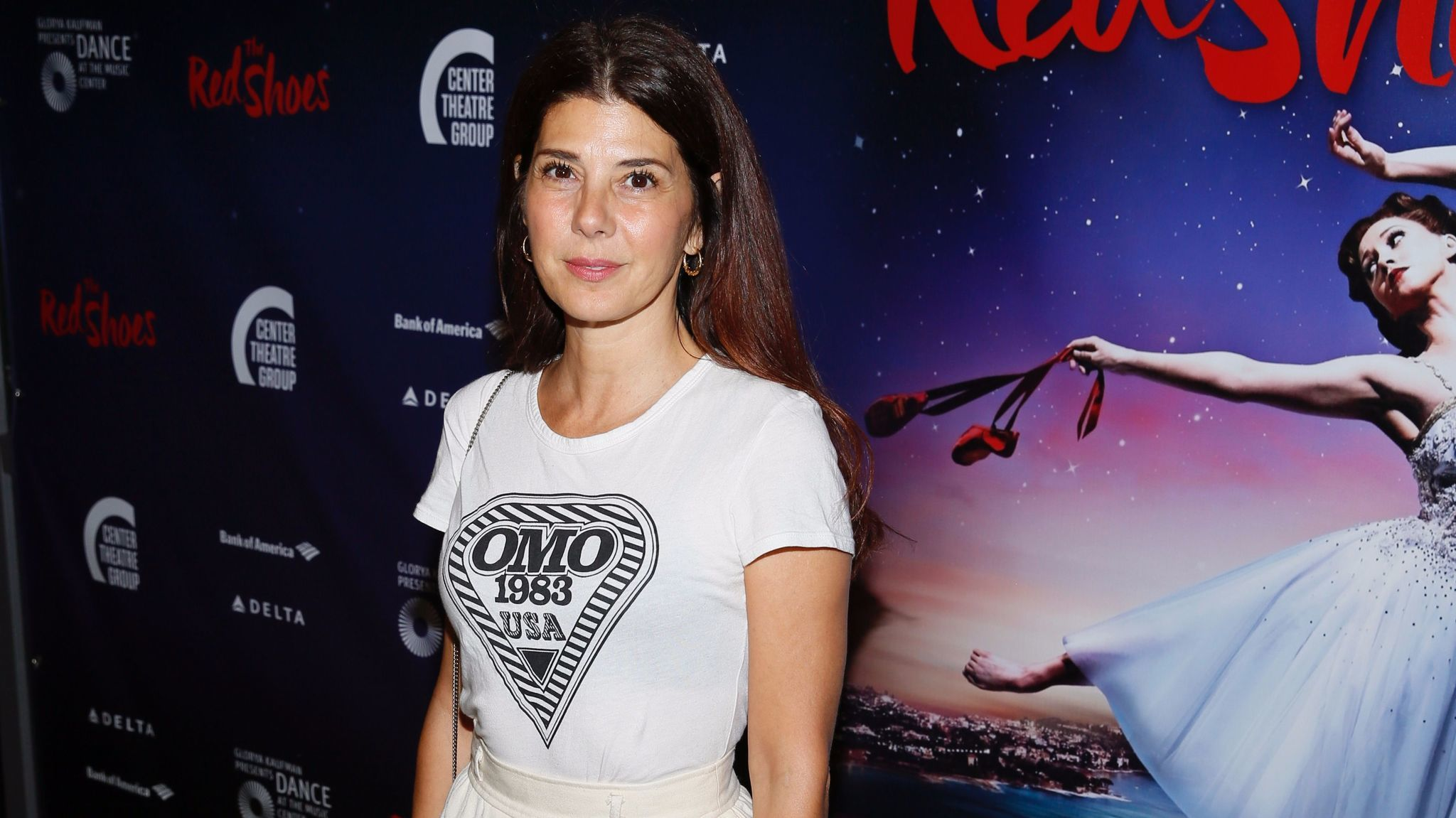 """Marisa Tomei at the opening night performance of """"The Red Shoes."""""""