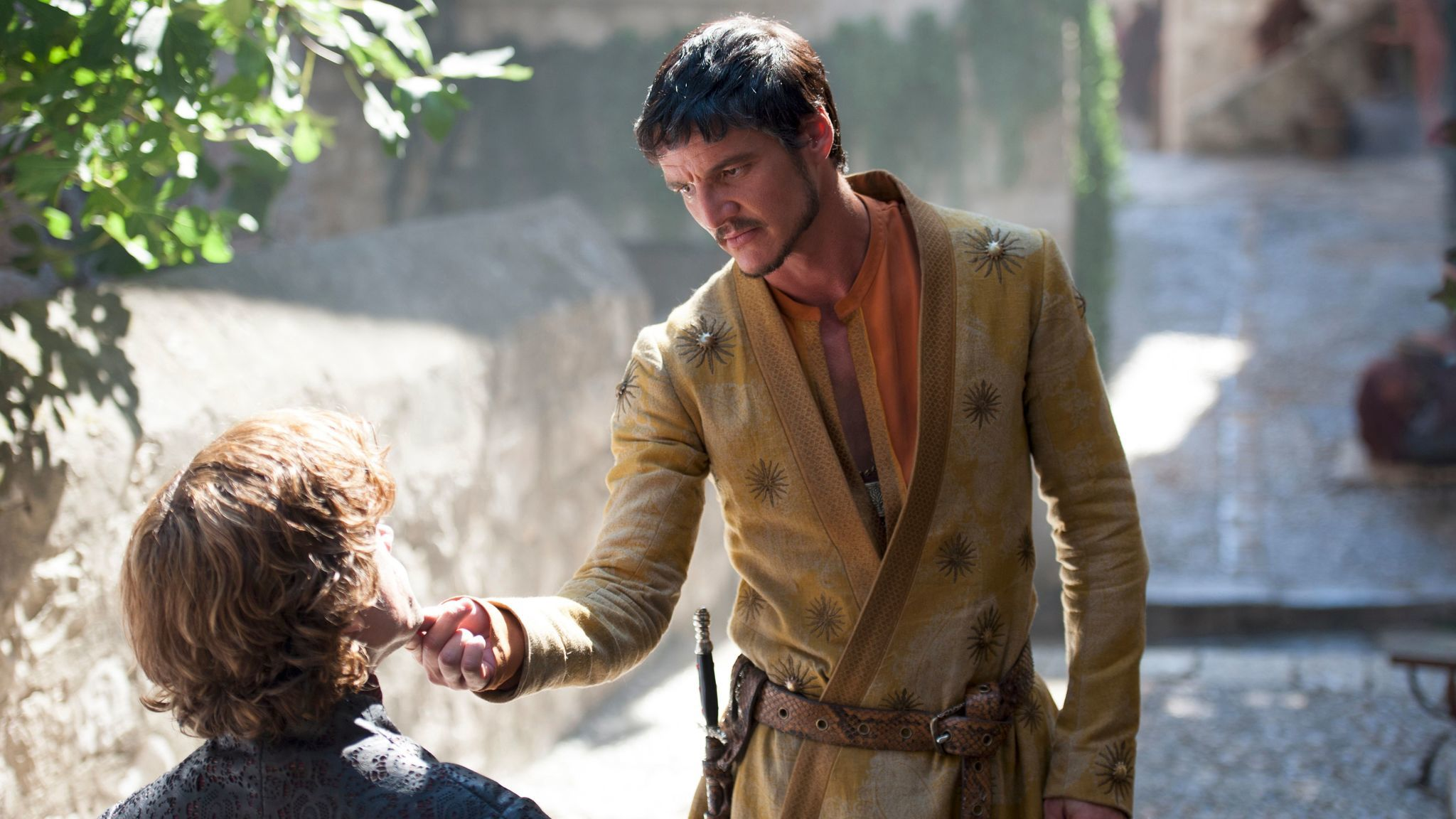 "Pedro Pascal, right, with Peter Dinklage on ""Game of Thrones."""