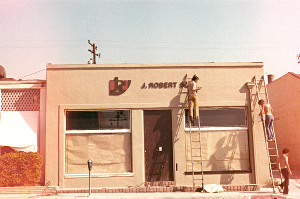 Sally Sirkin Lewis opened her J. Robert Scott showroom at 8727 Melrose Avenue in 1972.
