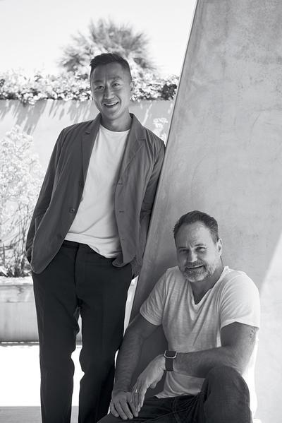 Interior designer Vinh Diep and architect Christopher Mercier of (fer) studio.