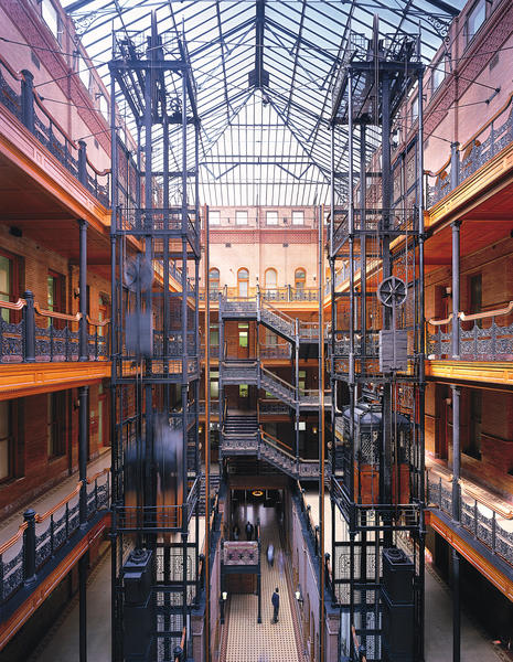 The Bradbury Building in downtown Los Angeles.