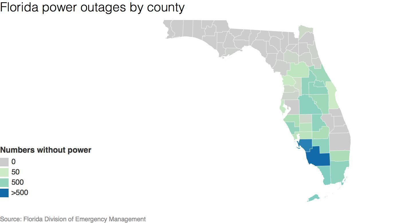 Hurricane Irma Power Outage Map Orlando Sentinel