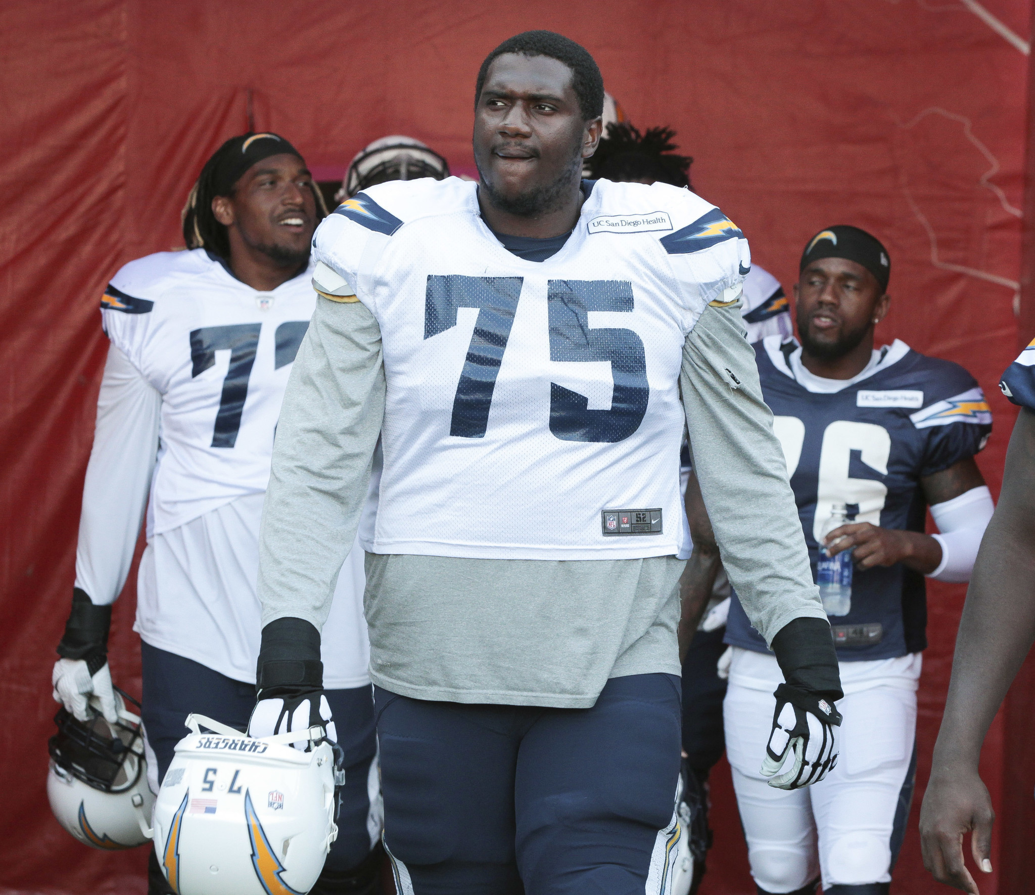 Chargers offensive tackle Chris Hairston is out for the season