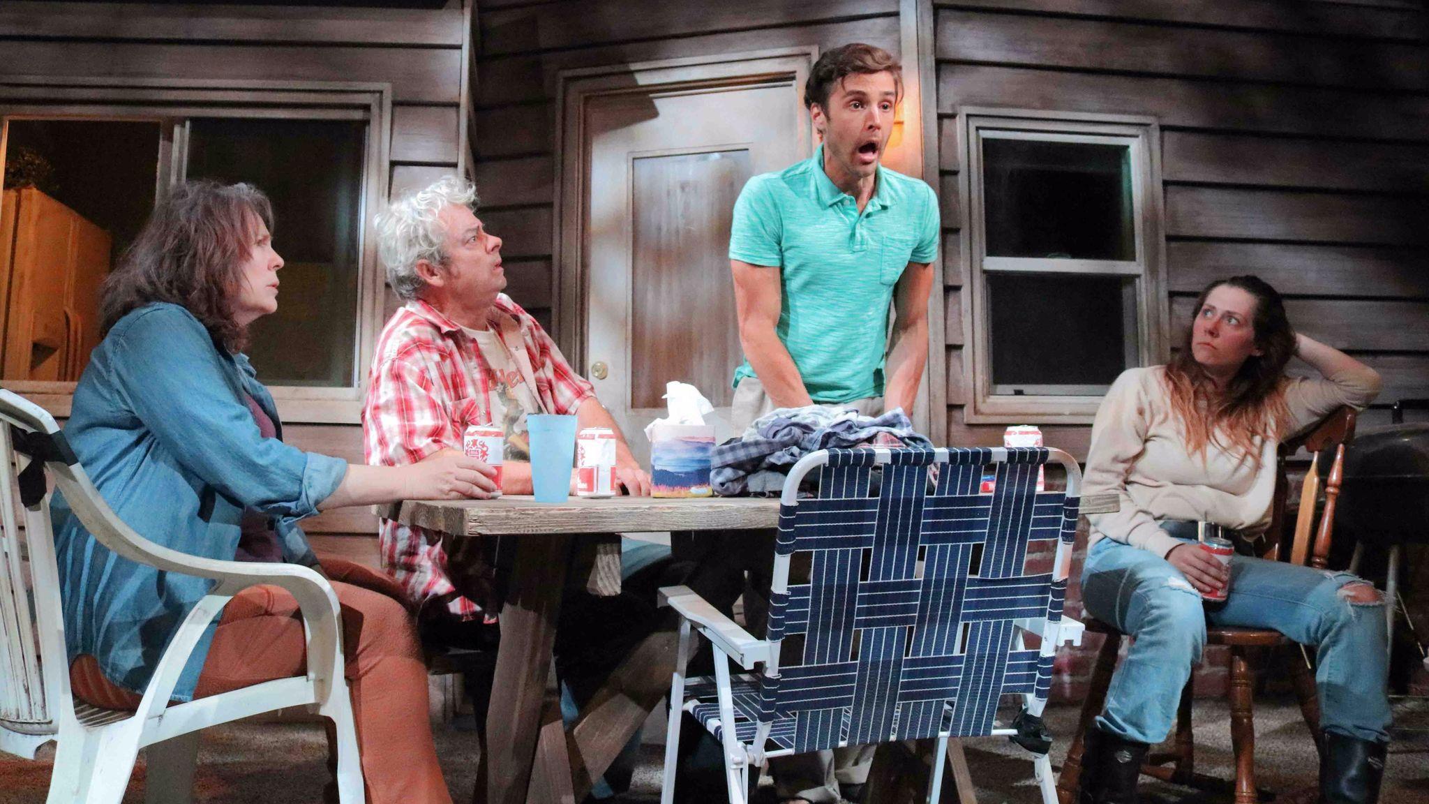 "Taylor Gilbert, from left, Joe Hart, Ben Theobald and Allison Blaize in ""Stupid Kid."""