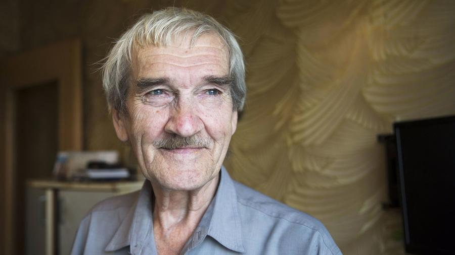 Former Soviet military officer Stanislav Petrov in 2015. — Photograph: Pavel Golovkin/Associated Press.
