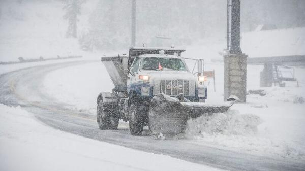 Mammoth calls out the plows as first snow of the season coats roads and village