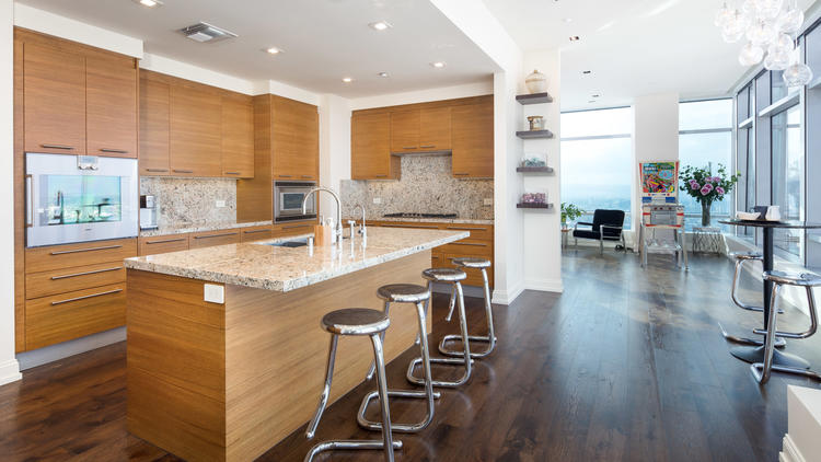 Mary Hart and Burt Sugarman's condominium at​ Ritz-Carlton Residences at L.A. Live