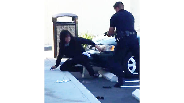 Huntington Beach officer seen shooting suspect while bystander captures gunfire on video
