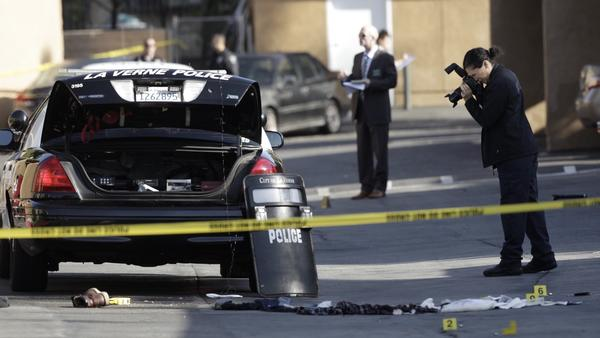 Suspect shot by police, officer injured in early morning altercation in La Verne